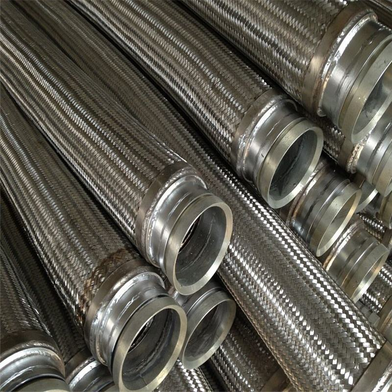 Stainless steel annular corrugated configurable flexible metal hose assembly with ends