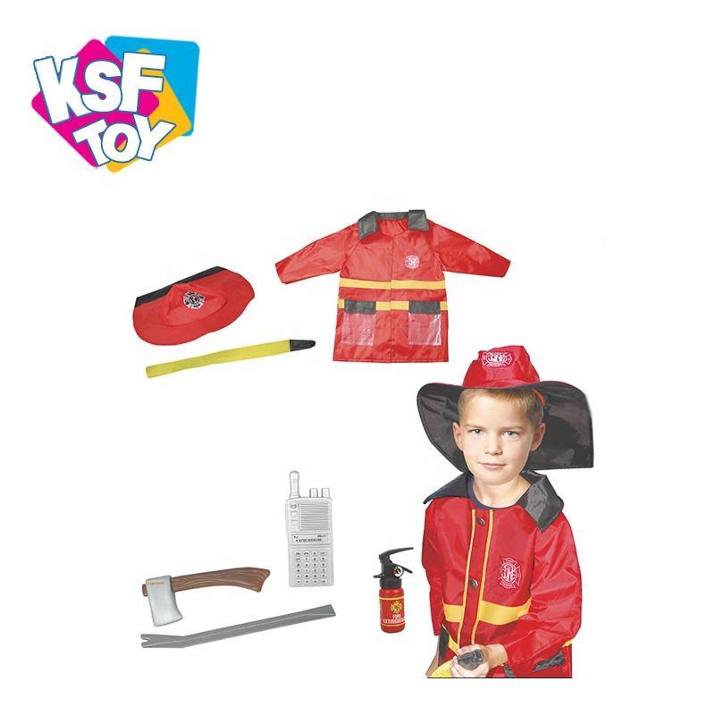 Educación bombero traje de bombero <span class=keywords><strong>conjunto</strong></span> de juguete vestido que papel <span class=keywords><strong>juguetes</strong></span> para los niños