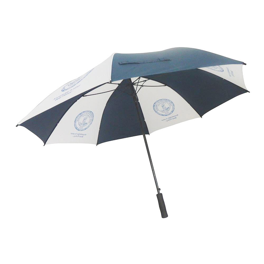 High quality navy and white regular size golf umbrella