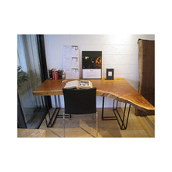 Single plate front office desk office table with sample style