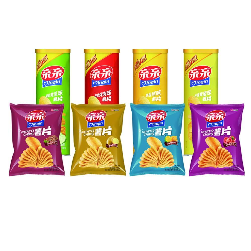 Popular Potato Chips Puffed Snack Crisps With Various Flavors From OEM Manufacturer