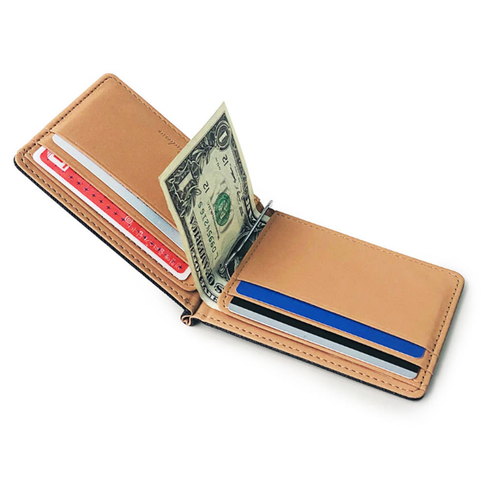Wholesale PU leather cover card package creative beauty money clip wallet for men or women