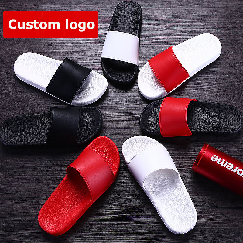 Fashion PVC Slippers Women Custom Slide Sandal With Logo