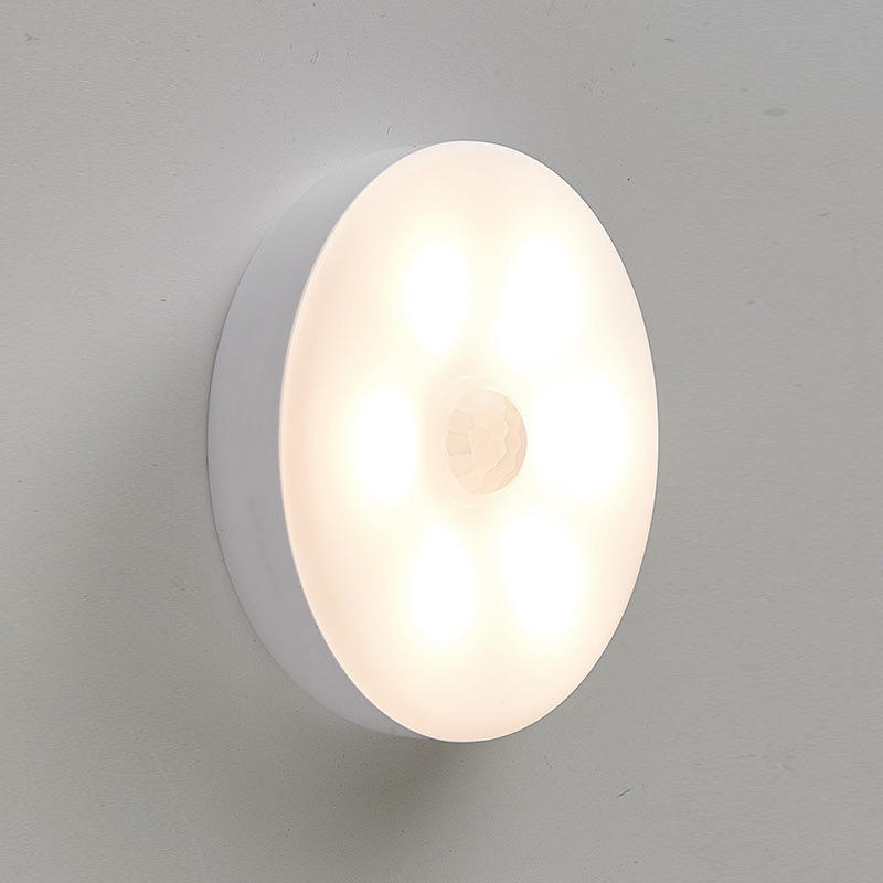 Auto On/Off LED PIR Motion Sensor Night Light for Bedroom Stairs Cabinet Wardrobe Wireless USB Rechargeable Wall Lamp