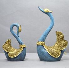 European-style household decorations living room furnishings wedding gifts couple Swan resin crafts