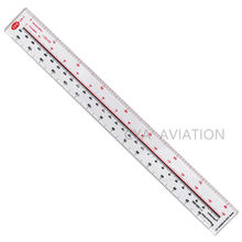 Clear Acrylic Plastic 30cm Scale Ruler Nautical Miles 1: 500000 & 1: 1000000 for Pilot Student Map Ruler Tool