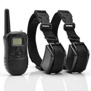 998dr waterproof rechargeable 300m remote dog trainer shock dog training collar vibration long range