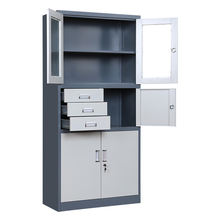 fireproof metal stainless steel filing cabinet with drawer