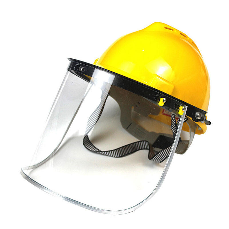 HOT SALE China protector making machine industrial construction face shield safety helmet with visor