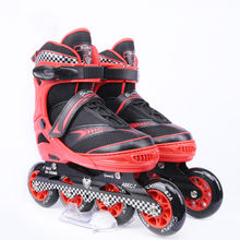 Rubber wheels 84mm 100mm with light up Adjustable size inline skates for kids and adults
