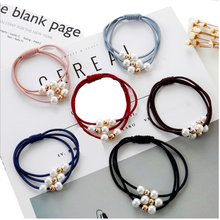 OEM design package elastic hair band with pearl bracelet
