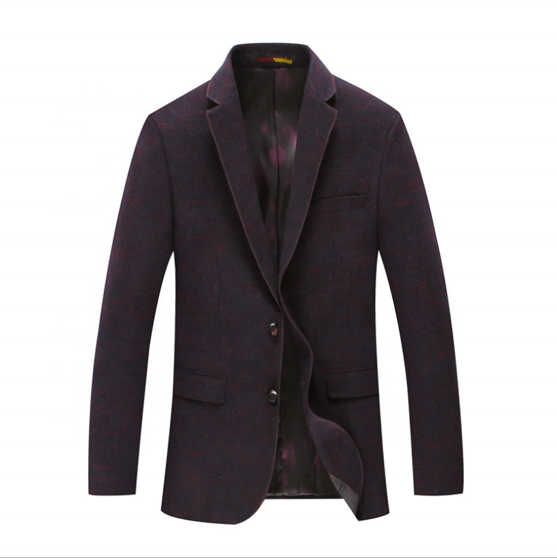 Korean Version Pure Color Business Casual Heavy Viscose / Polyester Autumn Winter Wool Suit Jacket