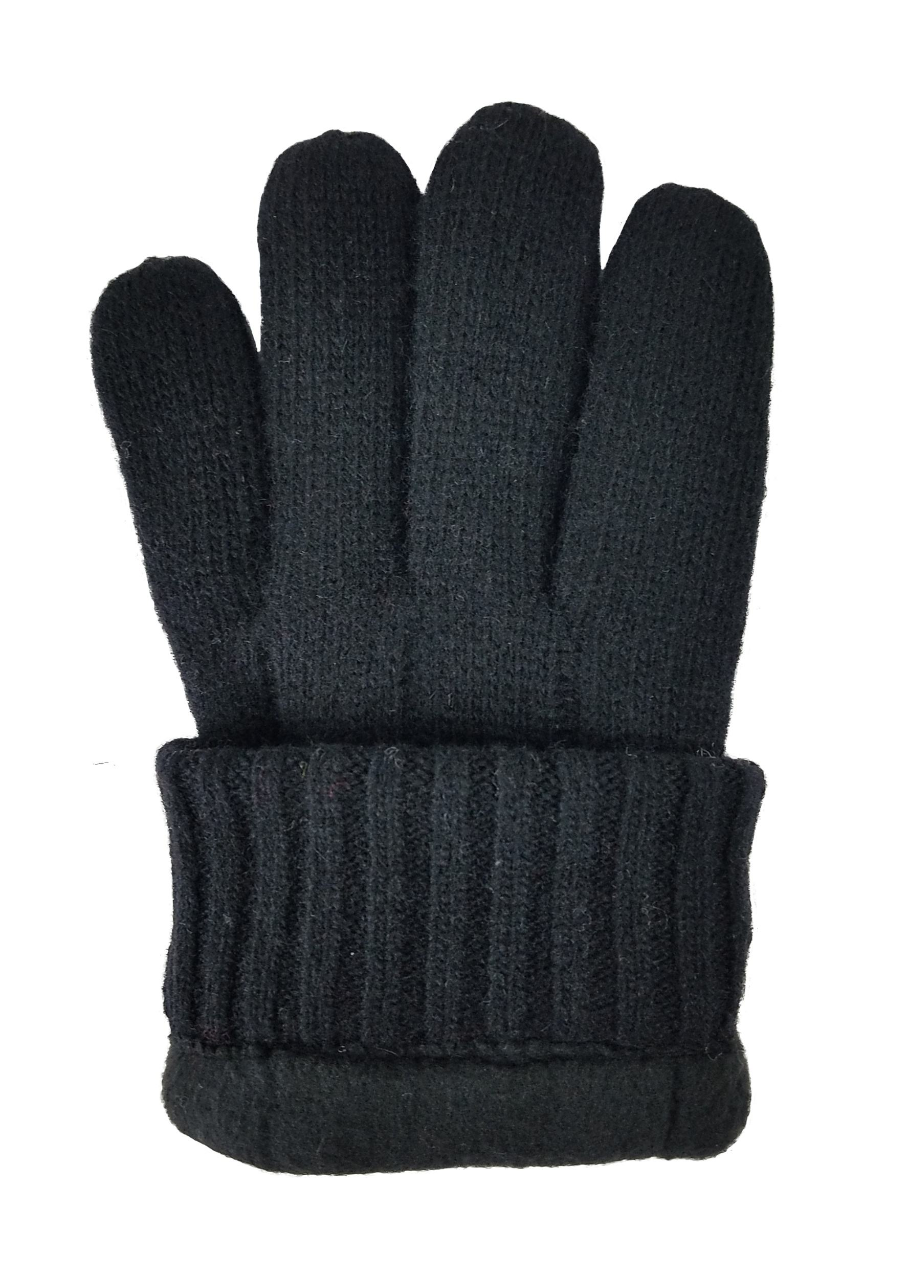 Wool Glove Bruceriver Men's Pure Wool Knitted Gloves With Thinsulate Lining With Rib Design