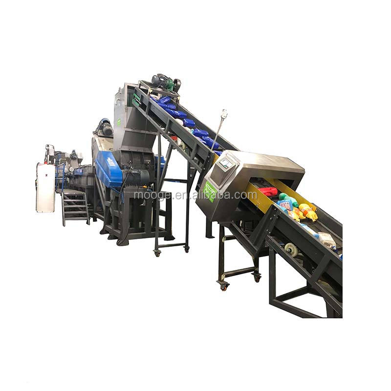 MOOGE PP PE HDPE LDPE flakes plastic washing recycling line