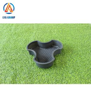 Plastic rubber paver concrete brick mold interlocking pavement tile mould