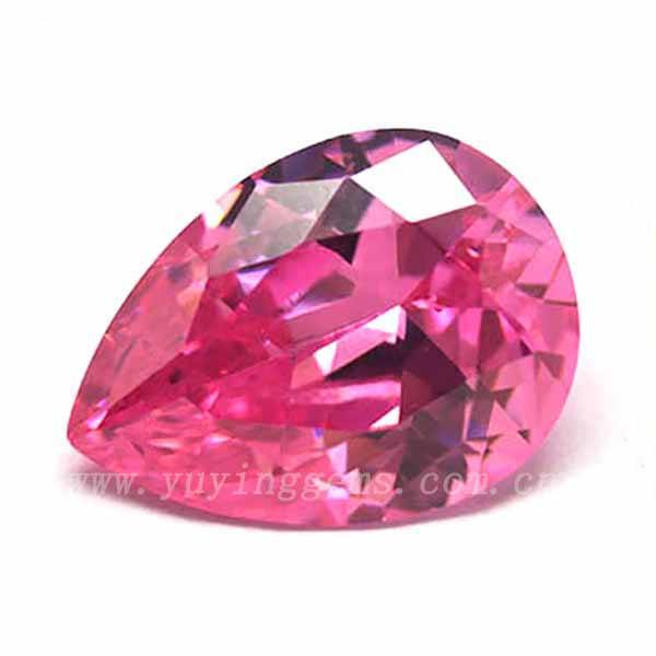 AAA Cubic Zirconia Loose Pear Shape CZ Name Pink Gemstone