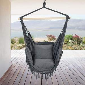 Rope Swing Macrame Hanging Hamak Hammock Chair With two cushion