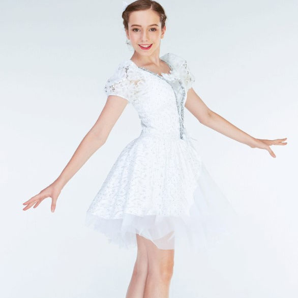 Beautiful white lace dress for women ballet