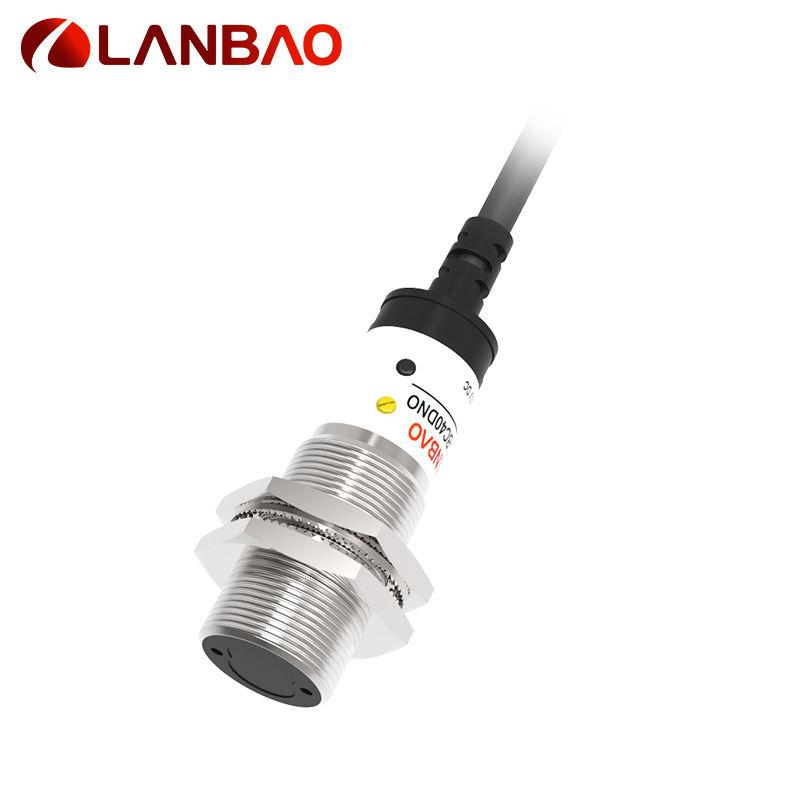 LANBAO a través de haz cilíndricos de Metal de M18 receptor pequeño infrarrojo sensor fotoeléctrico