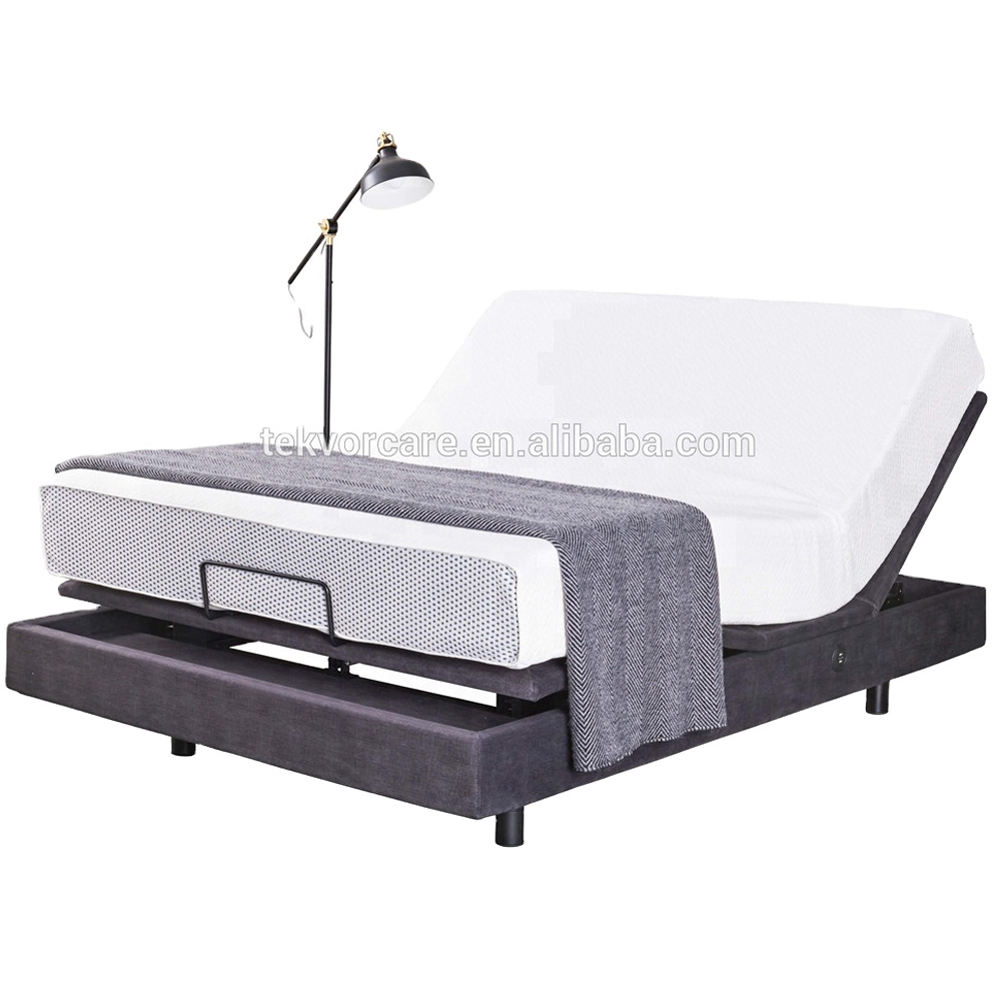 Best selling design ergonomic electric beds adjustable electric bed frame massage with remote