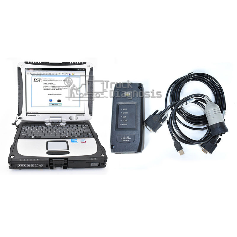 Adaptador et III 317 7485 diagnostic scanner ferramenta + CF52 Laptop instalado 2019 <span class=keywords><strong>software</strong></span> + ET sis 2019 + CATFLASH <span class=keywords><strong>software</strong></span> Adapter3 et3