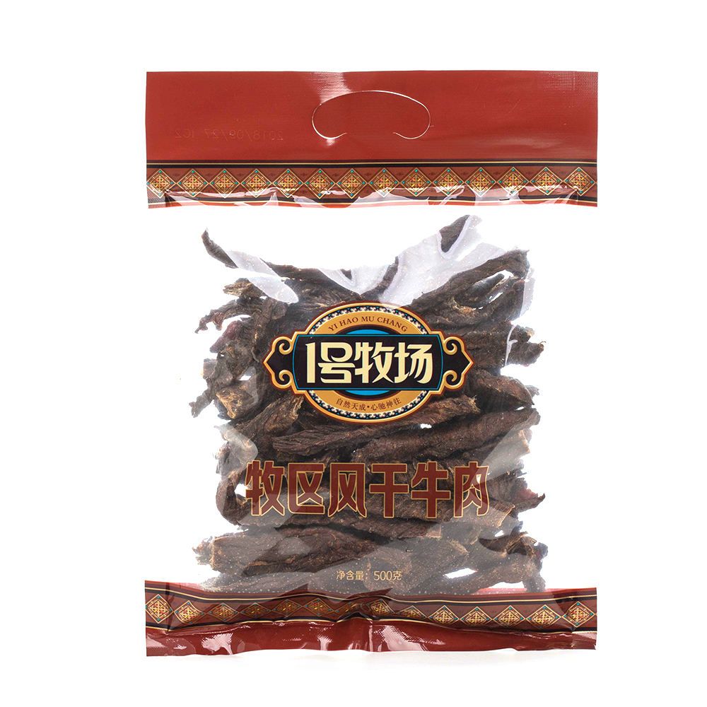Factory wholesale 500g bag of delicious dried beef jerky