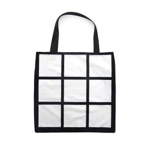 2020 New Arrival Personalized Design 9 Panel Photo Tote Bag Sublimation 9 Panel Shopping Bags