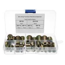 Zinc Alloy Screw-in Type Threaded Insert Nuts Assortment Kit