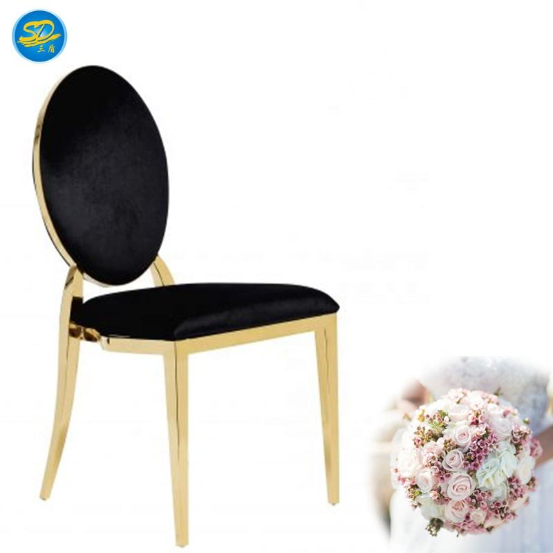 Gold Stainless Steel Luxury Hotel Wedding Chair Gold Chair For Events Party #YS-014