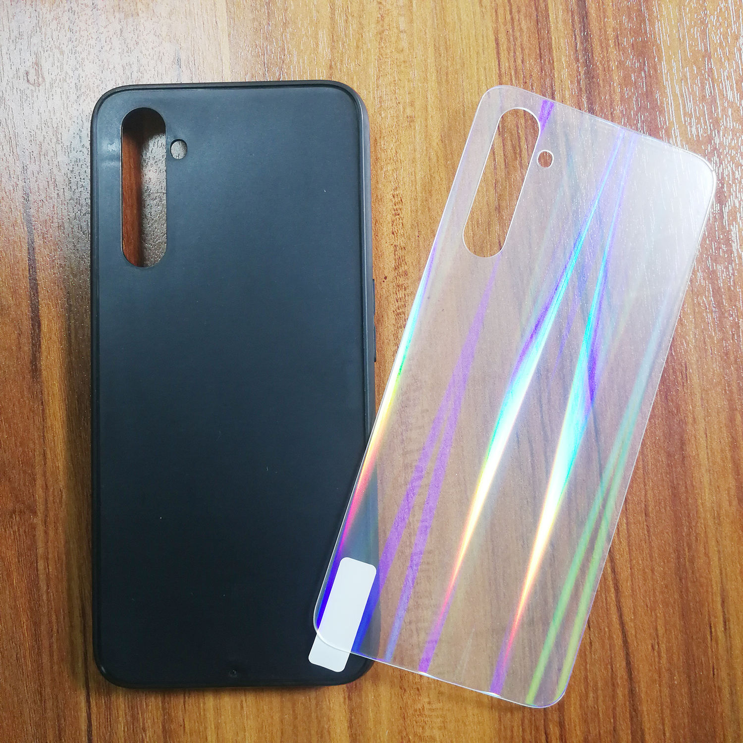 Customized Blank Aurora Light Glass Phone Case Bulk For oppo realme6pro
