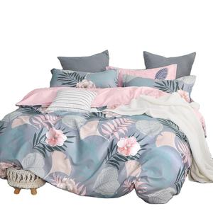 100% cotton printed bedding set good quality bed sheet