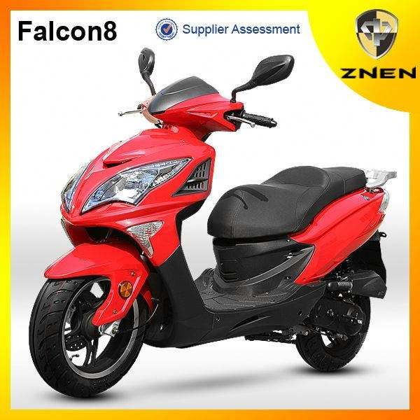 Gas Scooter 50cc Moped Gasoline Scooter Falcon8 Patent Motorcycles with EEC EPA DOT Certification