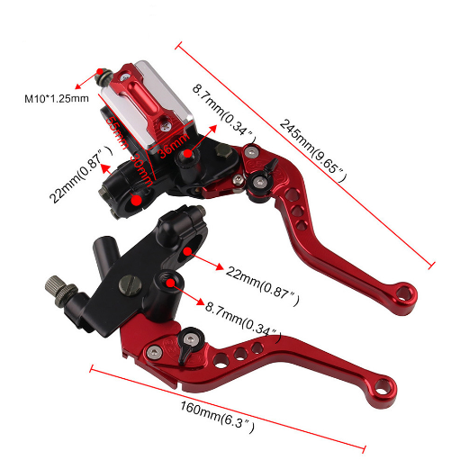 Top-rated Mocell aluminum alloy brake clutch lever for motorcycles with color anodized and high precision