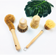 Pot Brush Brush Wood Pot Brush Eco-friendly 4pcs All Natural Fibre Wooden Dish Bottle Pot Brush Sisal Cleaning Kitchen Brush Set