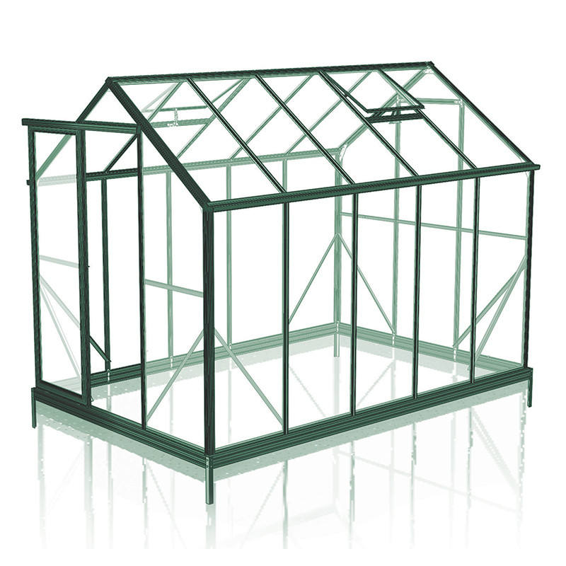 Custom sizes 3mm 4mm 5mm 6mm 8mm 10mm thick clear safety toughened tempered glass garden greenhouse