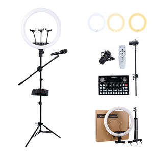 10inch 18 inch Tiktok Amazon clip camera mobile phone led phone 18 led ring light with tripod stand