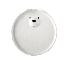 Wholesale white porcelain dinner ware ceramic dinner plate cute ceramic plate for kitchen