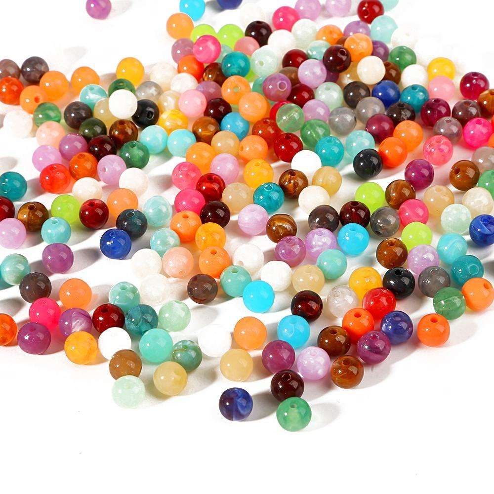 option for colours round 6 mm wholesale  600 pcs acrylic miracle beads