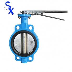 Manufacturer cheap Factory Price Double Eccentric Wafer Butterfly Valve