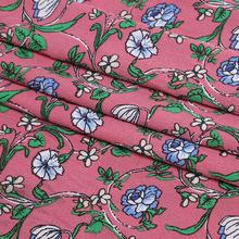 Chinese Wholesale Woven Custom Pattern Stock Lot Bubble Crepe Polyester Textiles Print Dress Fabric