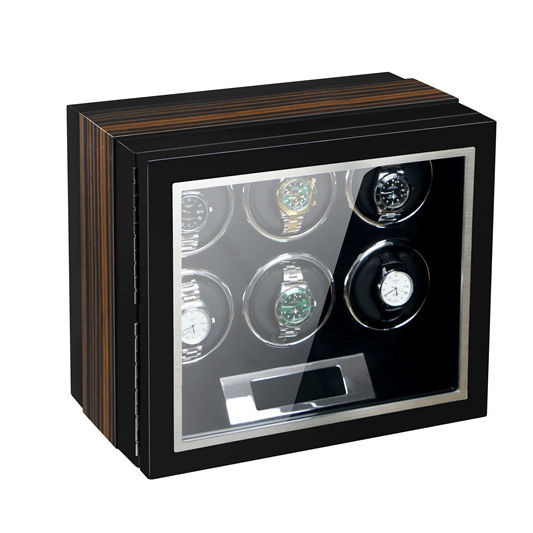 T.wing pak Superior Quality 6 watch winder LCD touch screen setting adjustable safe box for automatic watches