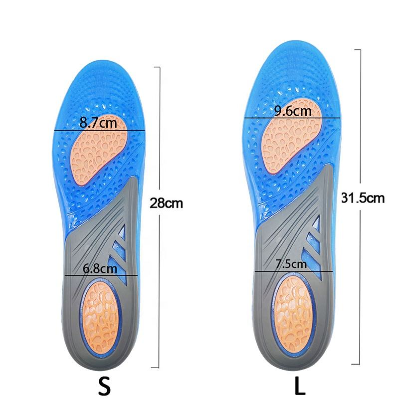 Silicone Orthopedic Massaging Shoe Inserts Sports Shock Absorption Shoe Pad Comfortable For Men Women Shoes Insole