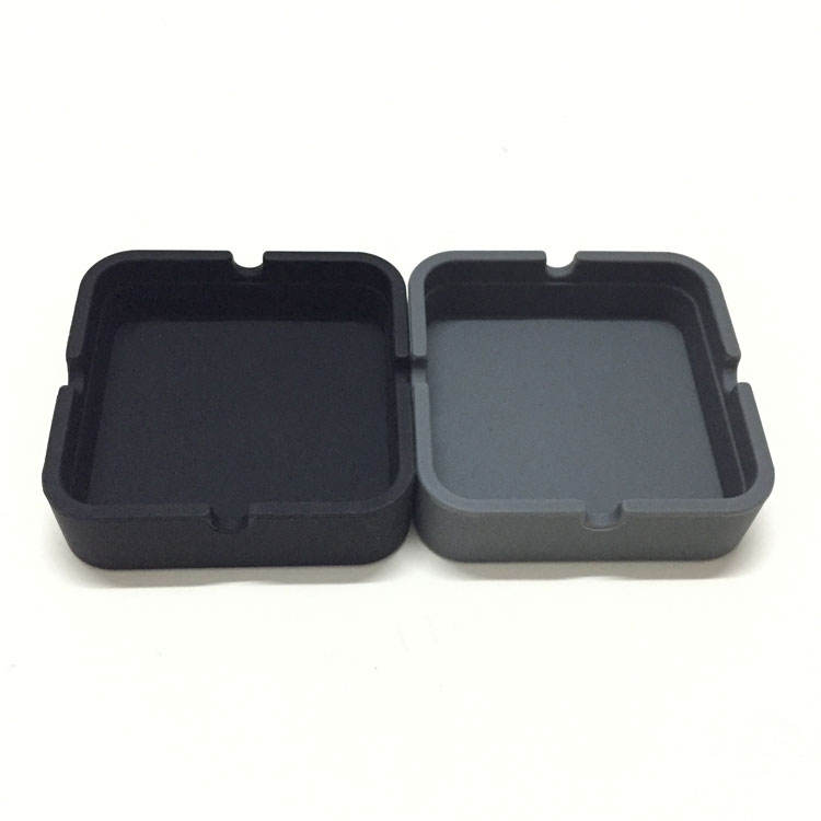 Mini Square Shape Outerdoor Smoking Ash Tray High Quality Promotional Gift Cigar Silicon Ashtray