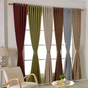 Fast Dispatch Modern Living Room Hotel Drapes Simple Design Fine Linen Blackout Curtain