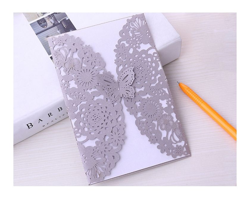 Creative Hollow Out Marriage Greeting Cards Laser Cut Party Wedding Invitation Card Sets