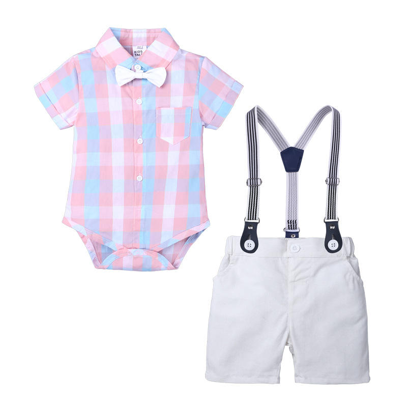 Fashion cheap wholesale summer short sleeve cotton kids clothes jumpsuit romper boy toddler infant newborn baby clothing taiwan