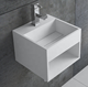 Artificial wall vanity basin white bathroom sink designs acrylic solid surface hand washbasin