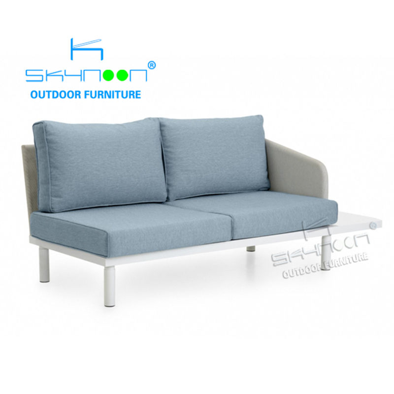 Modern aluminum outdoor sofa Classic Design luxury garden corner sofa cheap wholesale fashion outdoor couch(82111B)