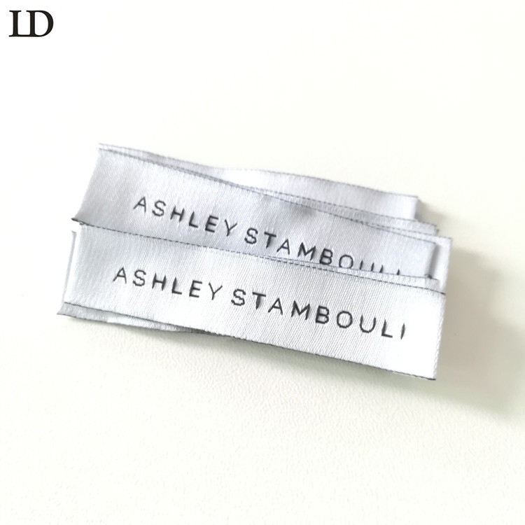 customized fabric sewing clothing labels for garment brand logo woven label with personalized name clothes tags for dress label
