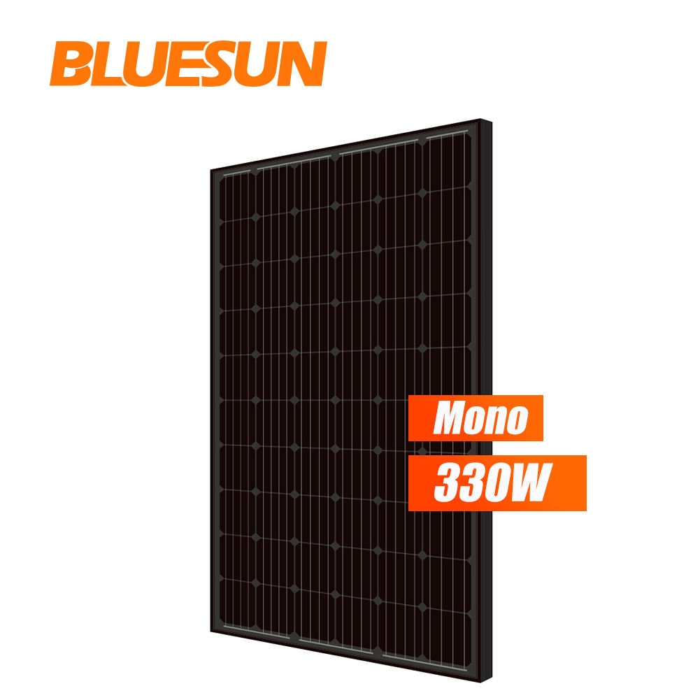 Europe warehouse solar panel 300w all black mono 300w 300watt 310w 330w 330 watt full black silicon solar panels price for sale